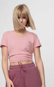 T-shirt 4F w stylu casual z okrągłym dekoltem