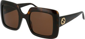 Brązowe okulary damskie Gucci