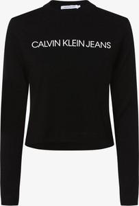 Czarny t-shirt Calvin Klein z długim rękawem