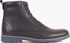 Czarne buty zimowe Kulig sznurowane