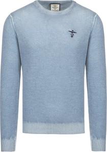 Niebieski sweter Aeronautica Militare w stylu casual