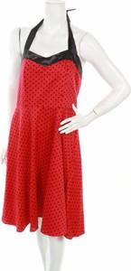 Czerwona sukienka Zarlena na ramiączkach mini