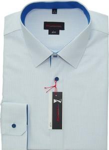 Niebieska koszula Klasyka Kielce z bawełny z długim rękawem