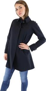 Granatowy płaszcz Rrd w stylu casual