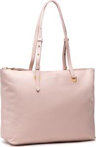 Różowa torebka Coccinelle duża na ramię