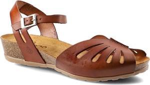 Sandały Yokono z klamrami ze skóry