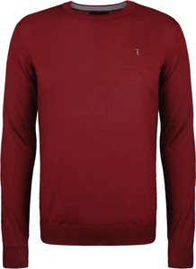 """Czerwony sweter Trussardi Sweter """"c-neck"""" w stylu casual"""