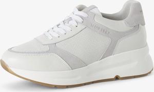 Buty sportowe Marc O'Polo z tkaniny z płaską podeszwą