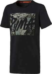 Czarna koszulka dziecięca Puma z krótkim rękawem