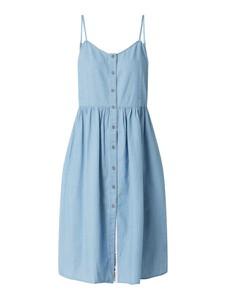 Niebieska sukienka Tommy Jeans z jeansu mini na ramiączkach