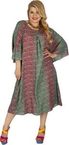 Sukienka Aller Simplement w stylu casual z długim rękawem z okrągłym dekoltem