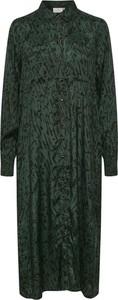 Zielona sukienka Kaffe z długim rękawem
