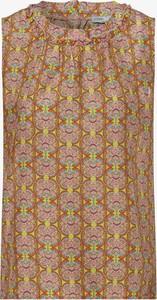 Bluzka Tonno & Panna z jedwabiu z okrągłym dekoltem