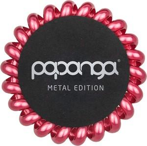 Papanga Pink Royal Metallic Big | Elastyczna gumka do włosów (duża): metaliczna czerwień - Wysyłka w 24H!