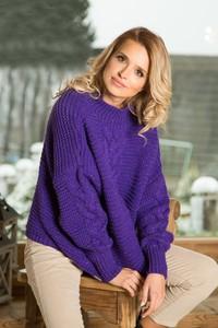 Fioletowy sweter Fobya