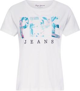 Bluzka Pepe Jeans z krótkim rękawem w młodzieżowym stylu