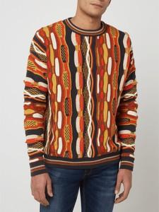 Pomarańczowy sweter Review z bawełny w młodzieżowym stylu