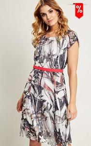 Sukienka Kaskada mini z okrągłym dekoltem