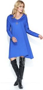 Sukienka Makadamia z dzianiny midi z długim rękawem