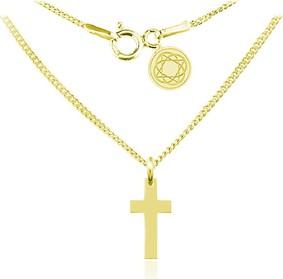 Lian Art Naszyjnik z krzyżykiem - 24k złocenie