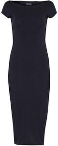 Czarna sukienka Byinsomnia z okrągłym dekoltem prosta