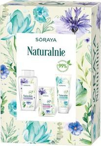 Soraya, Naturalnie, zestaw, kojący płyn micelarny, 400 ml + maska na tkaninie, Lawendowe Nawilżenie 17g + delikatny żel do mycia twarzy, 150 ml