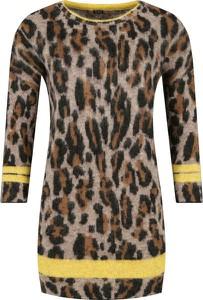 Sukienka Guess z długim rękawem z wełny mini