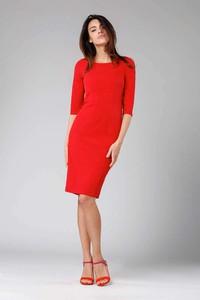 Czerwona sukienka Nommo midi ołówkowa