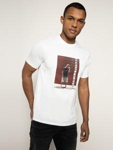 T-shirt Armani Exchange z nadrukiem z krótkim rękawem