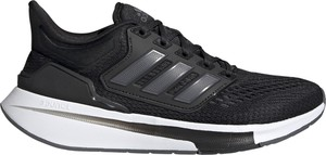 Czarne buty sportowe Adidas z płaską podeszwą sznurowane