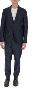 Niebieski garnitur Dsquared2 z wełny