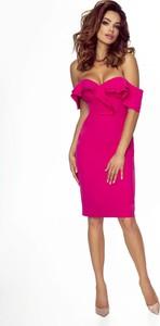 Sukienka Omnido.pl z krótkim rękawem ołówkowa