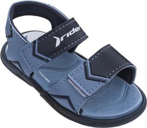 Granatowe buty dziecięce letnie Rider na rzepy ze skóry