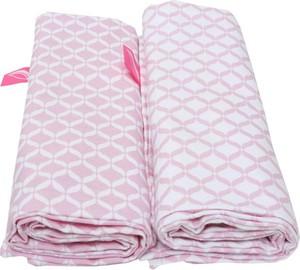 Motherhood, Classics, otulacze flanelowe Premium, różowe, 80x120 cm, 2 szt.