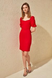 Czerwona sukienka Trendyol mini ołówkowa