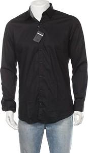Czarna koszula Manguun z długim rękawem