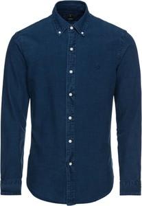 Niebieska koszula POLO RALPH LAUREN z długim rękawem z bawełny z kołnierzykiem button down