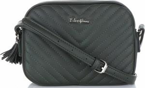 Czarna torebka David Jones średnia na ramię ze skóry ekologicznej