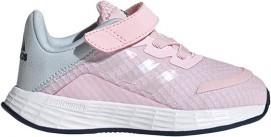 Różowe buty sportowe dziecięce Adidas dla dziewczynek na rzepy