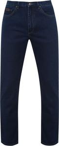 Granatowe jeansy Farah
