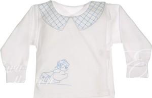 Koszulka dziecięca Ewa Collection z bawełny w krateczkę