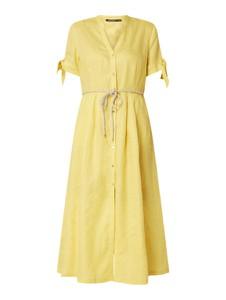 Żółta sukienka Pennyblack z dekoltem w kształcie litery v