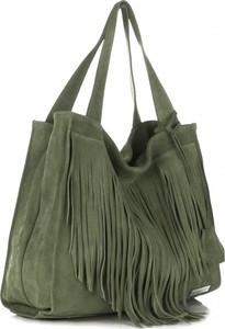 Uniwersalne torebki skórzane firmy vittoria gotti zielone