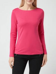 Różowa bluzka Christian Berg Women w stylu casual z długim rękawem
