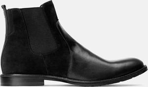 Czarne buty zimowe Kazar z zamszu