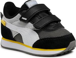 Buty sportowe dziecięce Puma ze skóry na rzepy