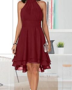 Czerwona sukienka Kendallme na ramiączkach