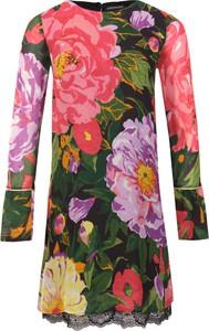 Sukienka Twinset z długim rękawem z okrągłym dekoltem mini