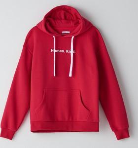 Czerwona bluza Cropp w stylu casual krótka