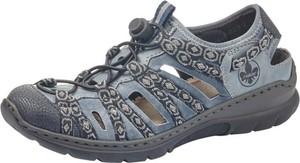 Sandały Rieker sznurowane w sportowym stylu z płaską podeszwą